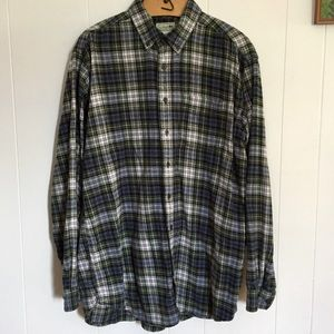 L.L. Bean 100% Cotton Flannel Shirt Tall Large